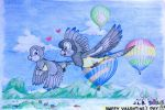 Valentine's Day: Flying with Those Balloons by SammfeatBlueheart