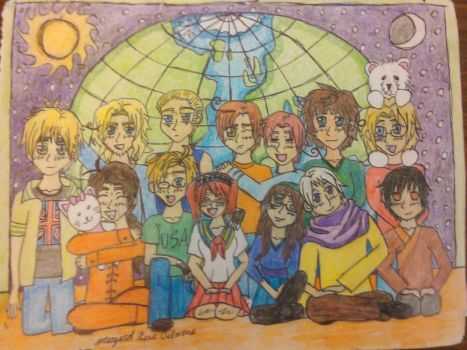 Hetalia Time group picture by Margaret-and-Roxy