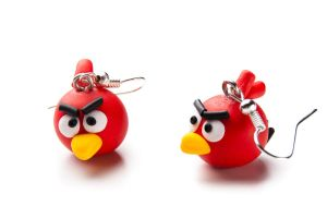 Angry Birds earrings by chabersztyna