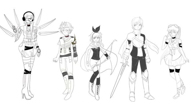 OC References WIP by Jellieviefish