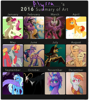 WaterFerret's 2016 Summary of Art by WaterFerret