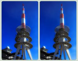 Brocken Antenna Tower 3D ::: Cross-View HDR by zour