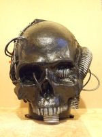 Bio-Mechanical Skull by morganian