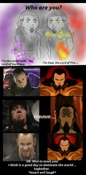 The Undertaker vs Ozai by FuriarossaAndMimma