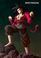 Goku Black SSJ4 V1 by greytonano