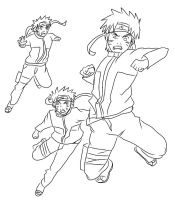 Naruto Barrage outline by superjacqui