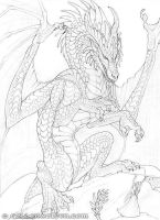 Calling the Dragon Drawing by Goldenwolf