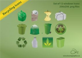 Recycle Icons by robinweatherall