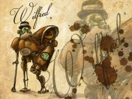 SteamPunk Robot - Wilfred by pablolanztl