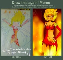 Draw this again meme: Fire Nymph edition by LiloLilosa