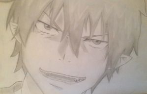 Rin Okumura ~ Pencil drawing by thegrudgegirl96