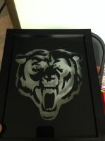 Chicago Bears scratch art... by Threedayslong