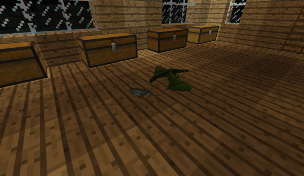 Playing in Minecraft(Mods): My little dragon=) by MrMixser
