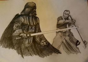 Rogue One: Darth Vader Vs Chirrut Imwe by Neilbrady