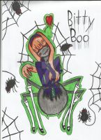 Itty Bitty spider girl by FableHearts