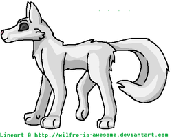 Newest wolf lineart :updated: by WILFRE-IS-AWESOME