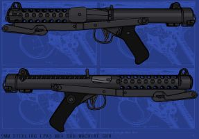 Sterling Sub-Machine Gun by linseed