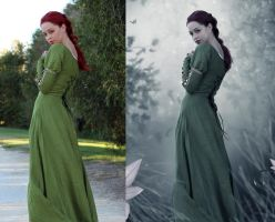 Green forest (Before and After) by scared-princess