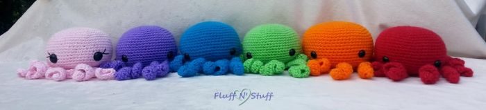 Rainbow of Octo Cuties by SailorMiniMuffin