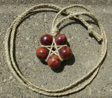 Poppy Jasper Star Necklace by LWaite