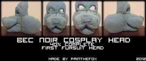 Bec Noir Head - Foam by PainTheFox