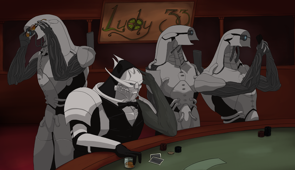Chilling at the Casino - WIP 3 by VillageIdiot55