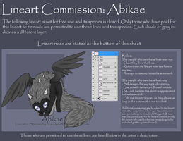 Lineart Commission: Abikae by Nai-Alei