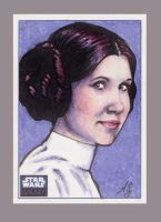 Princess Leia Sketch Card by AllisonSohn
