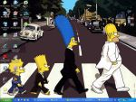 The Simpsons on Abbey Road by bernizzle