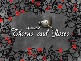 GIMP-Thorns and Roses-Brush by Chrisdesign
