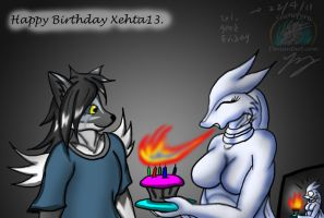 Happy Birthday 2011: Xehta13 by Snowfyre