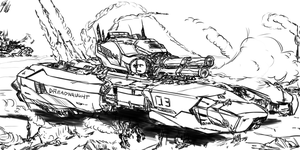 Sketch - Dreadnaught Assault by PeterPrime