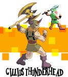 Gillius Thunderhead golden axe by nightshide