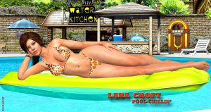 Lara Croft   POOL-CHILLIN     3-24-2014 by blw7920