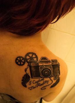 I capture the reality (tattoo) by Teaterblod