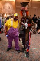 Chicago Wizard World 2012: Wario and Mad Hatter by Havoc-The-Tenrec