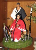Medicom Blade of the Immortal Manji and custom Rin by A-J-M-74