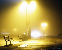 Southsea Bench Portsmouth, Fog by JoshHiggins