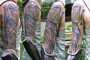 biomechanical arm finished by primitive-art