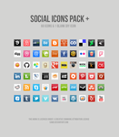 Social Icons Pack + by sawb
