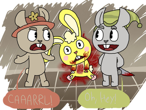 Happy Tree Friends: How did he get here? by jonna1215