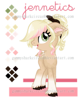 Pony Art Trade : Jennetics Small Color Ref. Sheet by gummysharkcircus