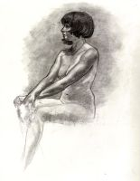 figure drawing by Cissell