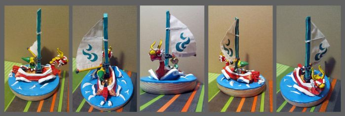 Wind Waker King of Red Lions and Link by Zy0n7