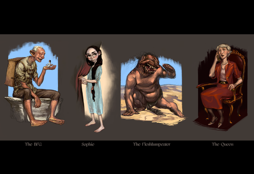 The BFG - Characters by Jandruff