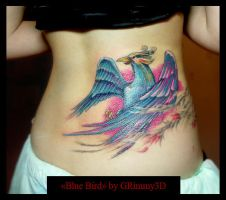 Blue Bird tattoo by grimmy3d