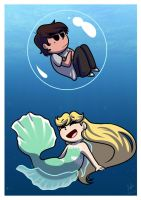 Mermaid Au by Jojodear