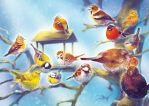 Winter and Birds of Europe by Fany001