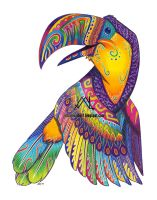 Oaxacan Toucan by JillianLambertArt