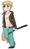 P. Commission - Blind-Kidd 7 by chubird